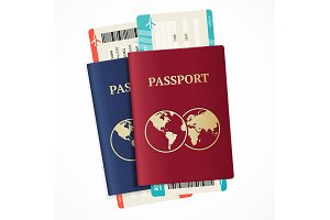Realistic International Passport Set