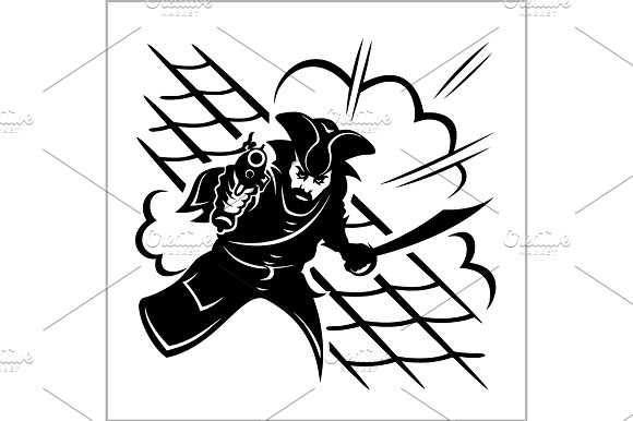 Attack Of Pirate Vector Illustration