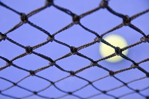 Paddle tennis net texture