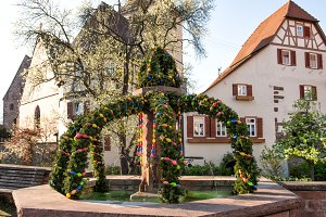 Easter outdoor decoration Germany