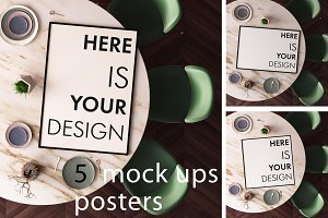 5 mock ups posters