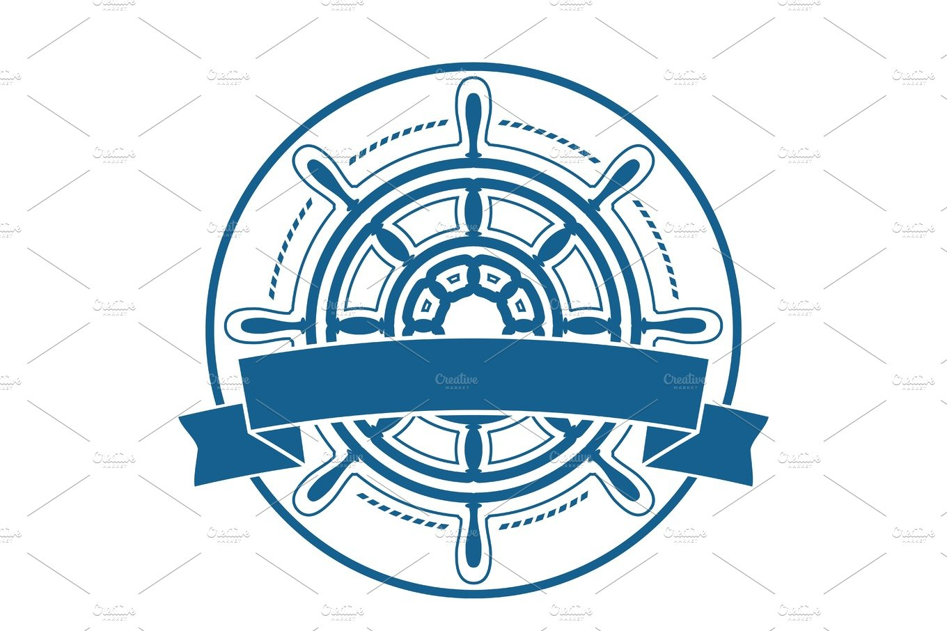 ship steering wheel logo vector pre designed photoshop graphics creative market ship steering wheel logo vector