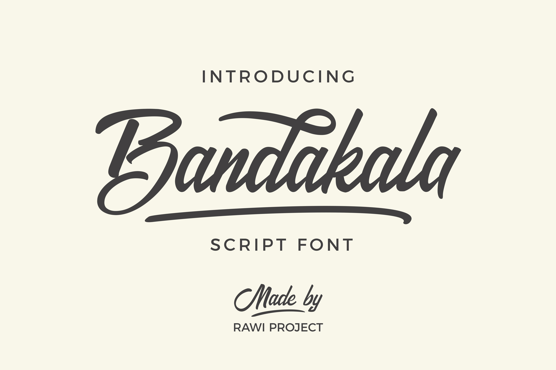 Bandakala Script Font Fonts Creative Market
