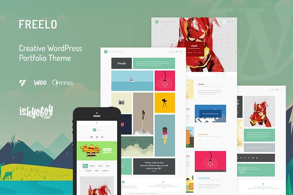 WordPress Portfolio Themes - Freelo - Creative WordPress Theme