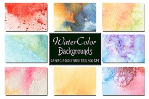 22 Watercolor Backgrounds. Vol 2