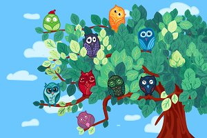 Owls On The Tree