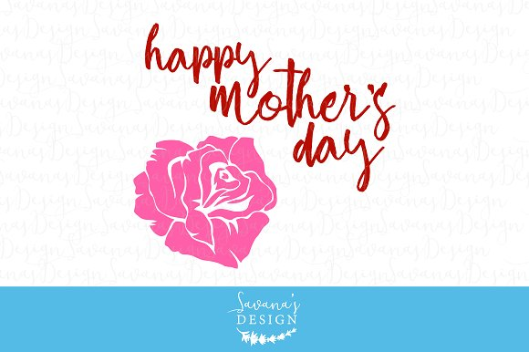 Happy Mother's Day Rose Cut Files