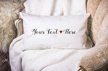 Lumbar Pillow, Cushion Mock-up. PSD