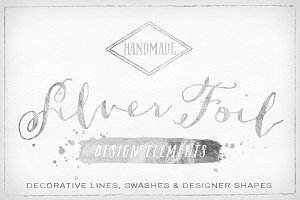 20% off Silver Foil Design Elements