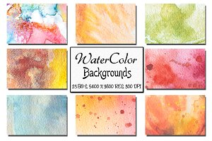 23 Watercolor Backgrounds. Vol 3