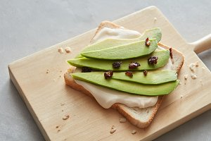fresh avocado sandwich