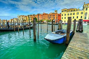 Famous Canal Grande in Venice