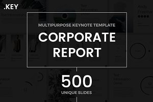 Corporate Report Keynote Template