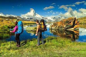 Hikers in Switzerland