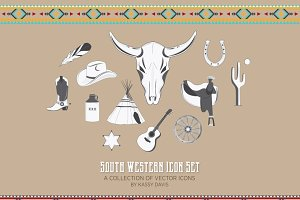 South Western Vector Icon Set