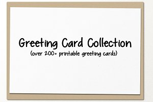 printable greeting card collection