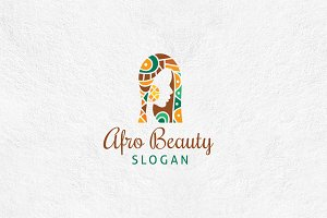 Afro Beauty Logo Template