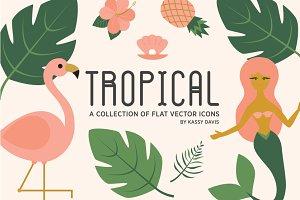 Tropical Vector Icon Collection