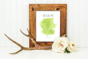 August Peridot Birthstone Printable