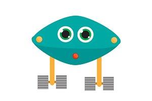 Robot character icon. eps+jpg