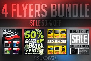 Black Friday Sale Flyers Bundle