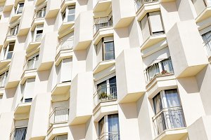 Facade of apartment building in Barcelona
