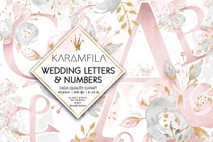 Wedding Alphabet Clipart