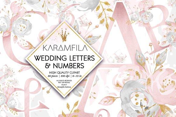 Wedding Alphabet Clipart