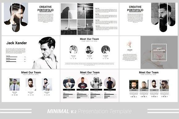 Minimal v.2 Powerpoint Template ~ Presentation Templates ~ Creative ...
