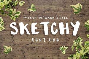 Sketchy - handmade font trio!