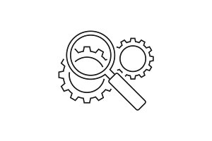 Search engine optimization line icon