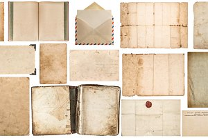 Paper sheets textures big set JPG