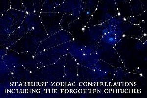 13 Starburst Zodiac Constellations