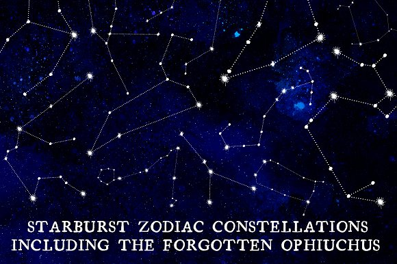 13 Staarburst Zodiac Constellations