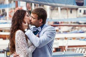 Man kisses a gorgerous woman