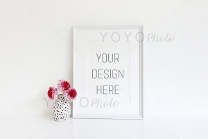 White Frame with Mount Mockup