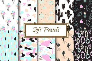 Soft Pastels Seamless Patterns