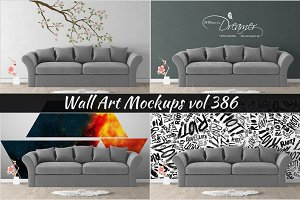Wall Mockup - Sticker Mockup Vol 386