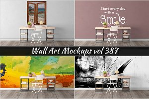 Wall Mockup - Sticker Mockup Vol 387