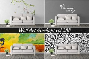 Wall Mockup - Sticker Mockup Vol 388