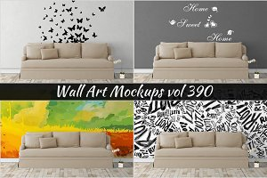 Wall Mockup - Sticker Mockup Vol 390