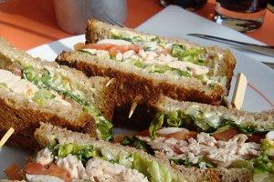 Sandwich in a Paris Bistro