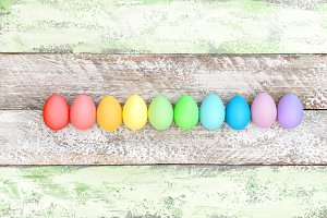 Easter eggs decoration colored