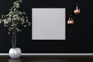 Dark interior background