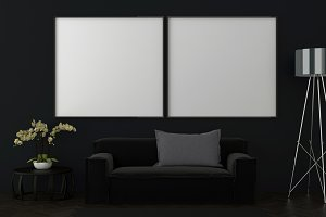 Dark interior background