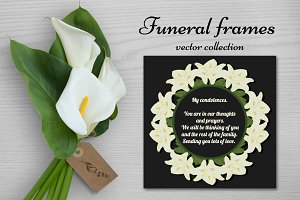 Funeral frames. Vector collection.