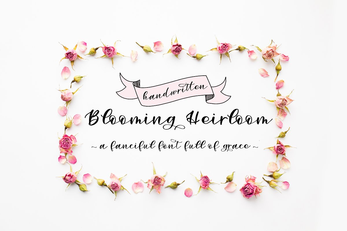 Blooming Heirloom-A Handwritten Font