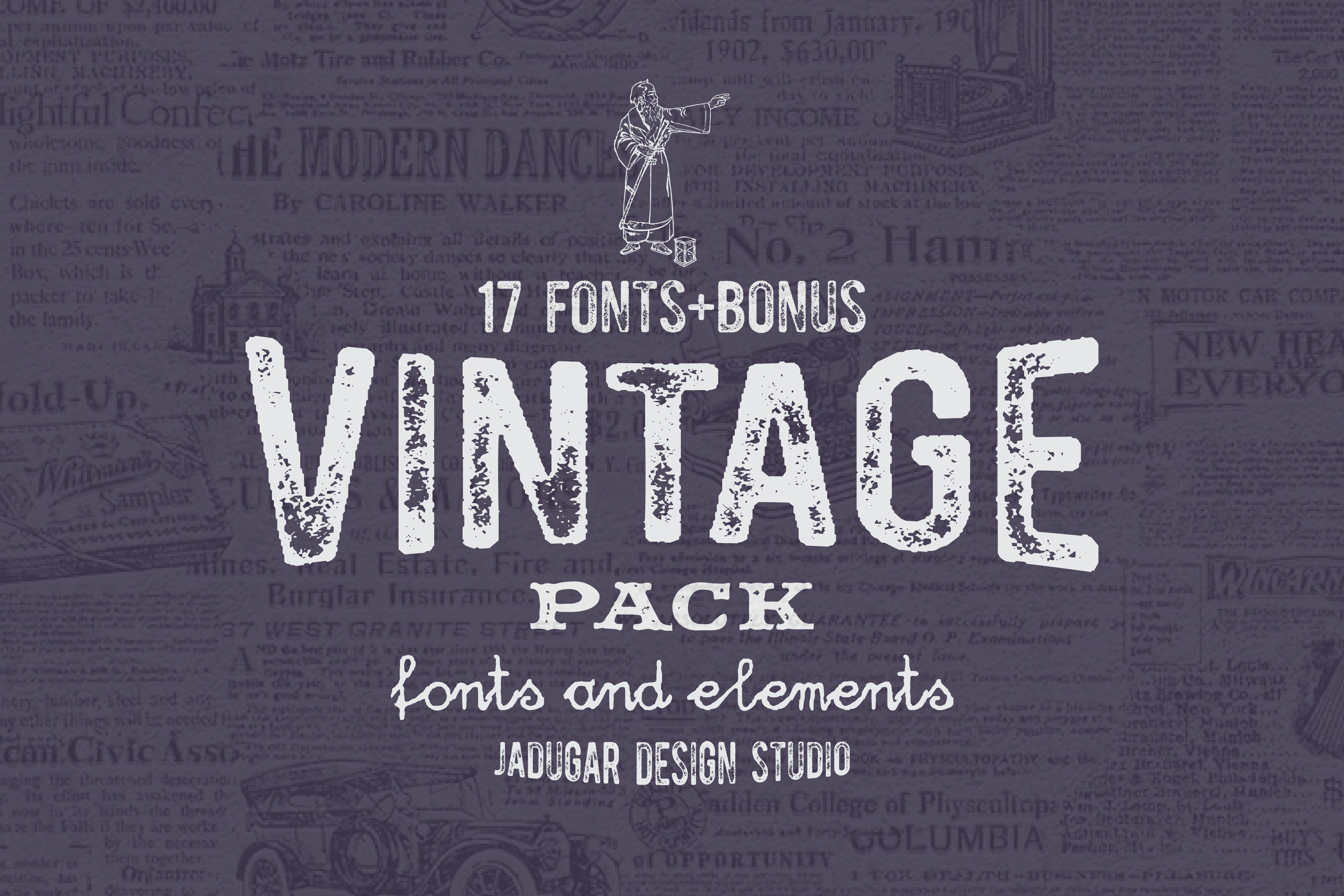 Download Vintage Pack-Promo 60% off ~ Fonts ~ Creative Market