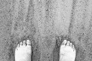 Grainy Beach Feet