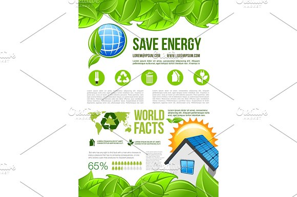 Vector Ecology And Environment Energy Infographics